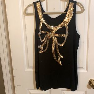 🌟GOLD BOW Party Tank Top🌟